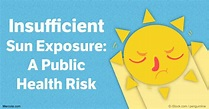 Insufficient sunlight a public health problem